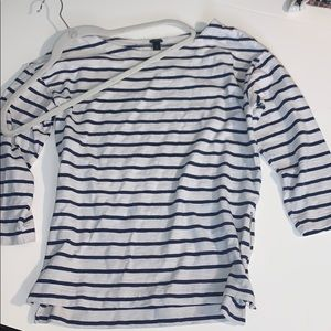 J. Crew 3/4 Sleeve Stripped Shirt Size S EUC